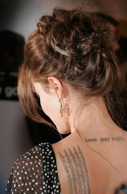 New Angelina Jolie Tattoo