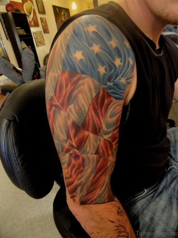 Nice American Flag Tattoo