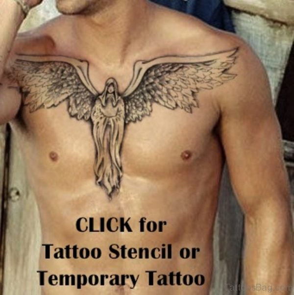 Nice Angel Tattoo Design