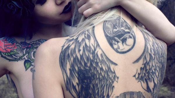 Nice Angel Wings Tattoo