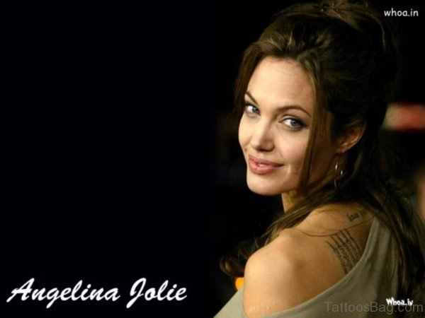 Nice Angelina Jolie Tattoo