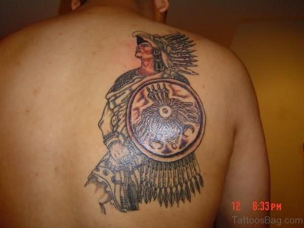 Nice Aztec Shoulder Tattoo Design