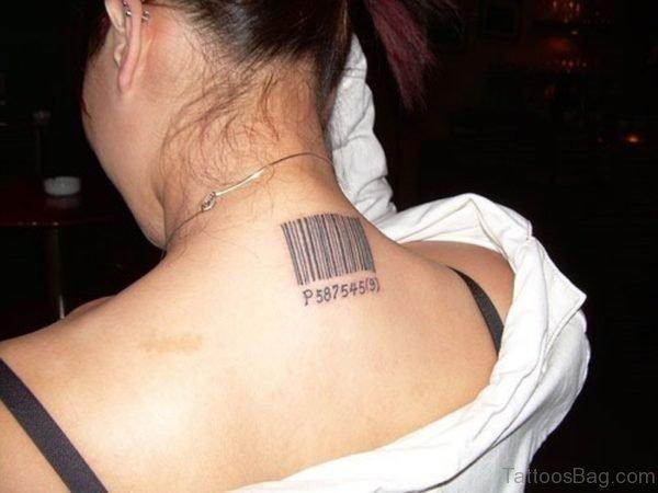 Nice Back Neck Tattoo For Women