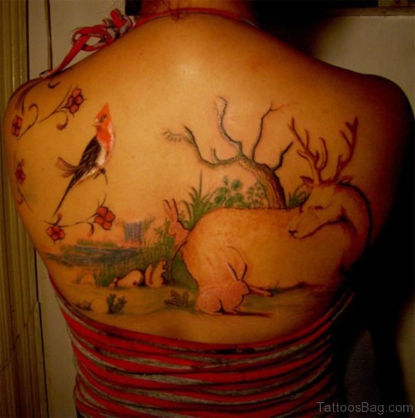 Nice Back Tattoo Design