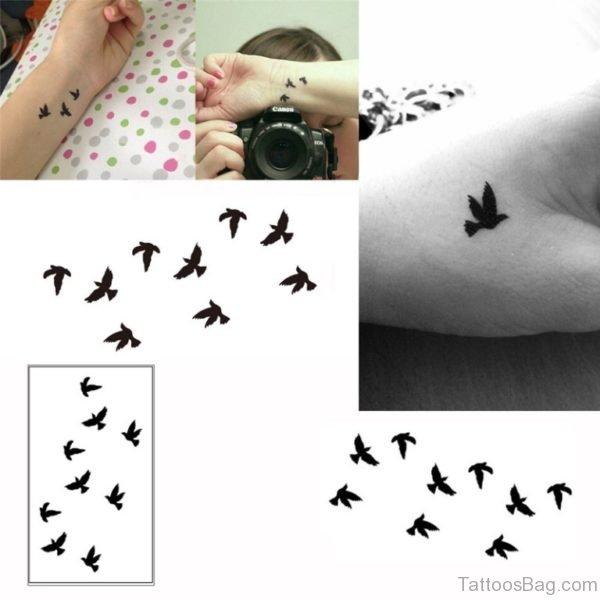 Nice Birds Tattoo Design