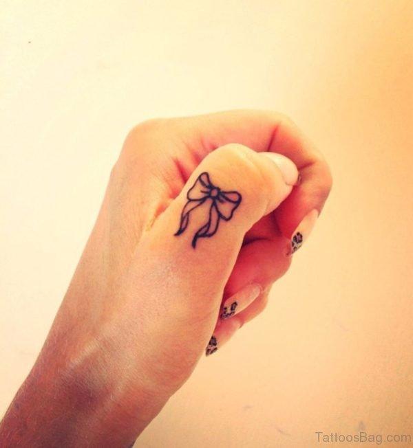 Nice Bow Tattoo Design