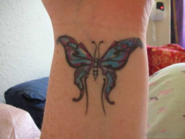 Nice Colored Butterfly Tattoo