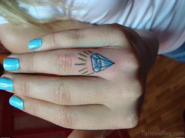 Nice Diamond Tattoo Design