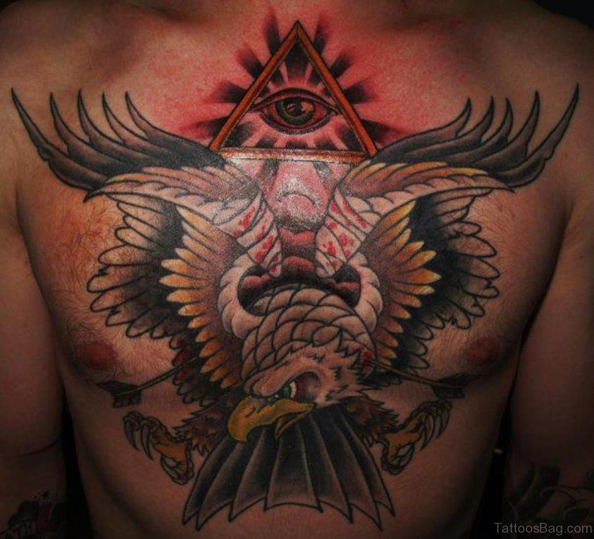 40 Wonderful Eagle Tattoos Design For Chest