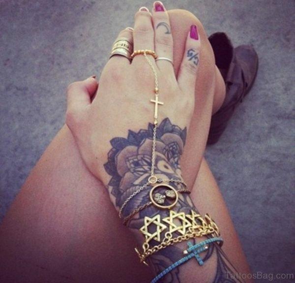 Nice Finger Tattoo Design