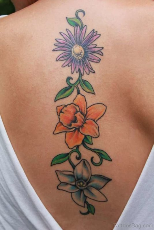 Nice Flowers Tattoo