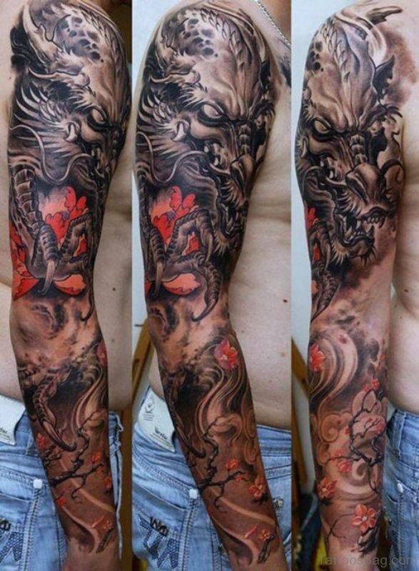 Nice Full Sleeves Shoulder Tattoo
