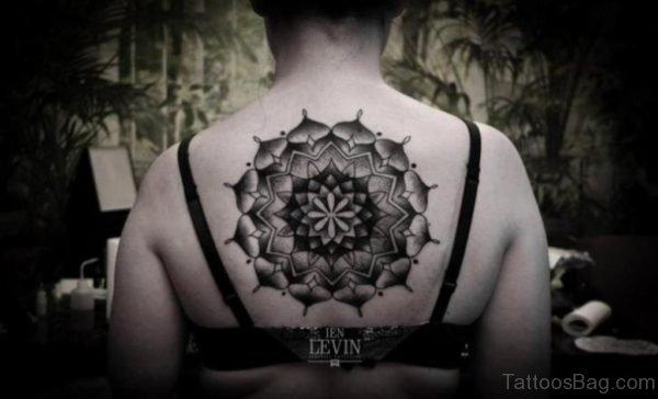Nice Geometric Tattoo On Back