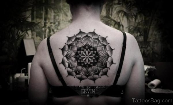 Nice Geometric Tattoo On Back