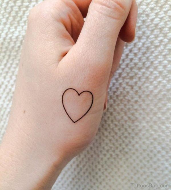 Nice Heart Tattoo Design