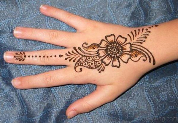Nice Henna Flower Tattoo Design