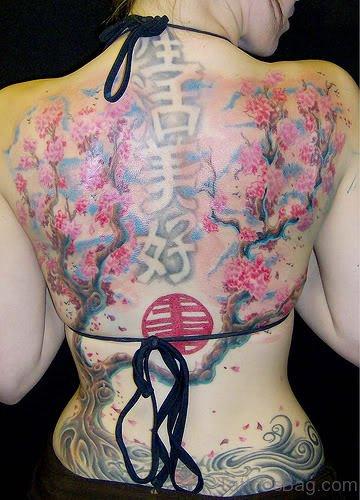 Nice Japanese Cherry Blossom Tattoo