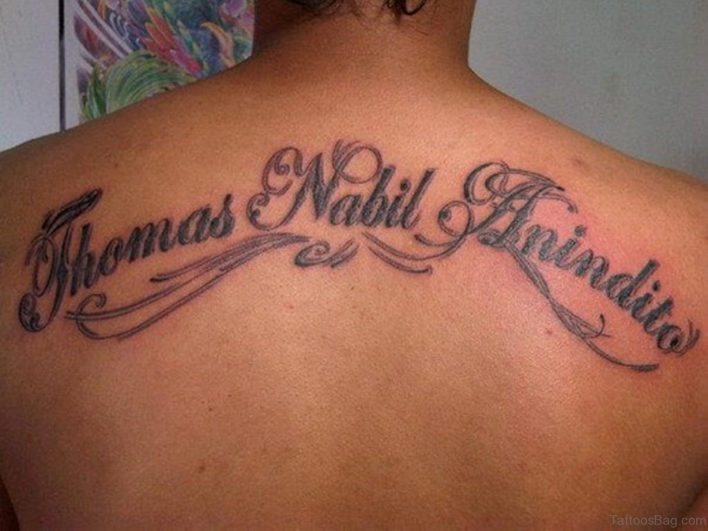Script Letters Tattoos Designs