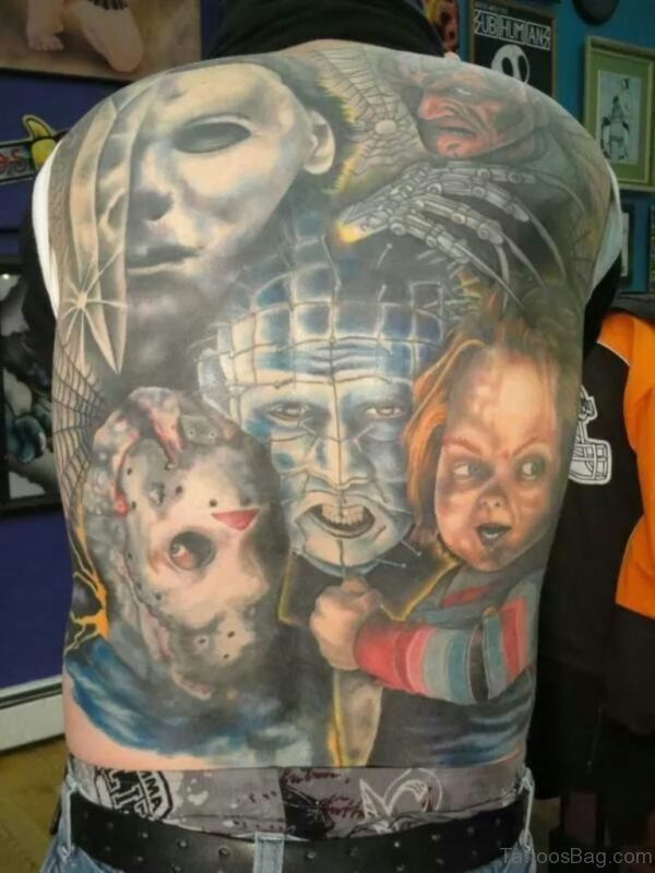 Nice Looking Horror Tattoo Design
