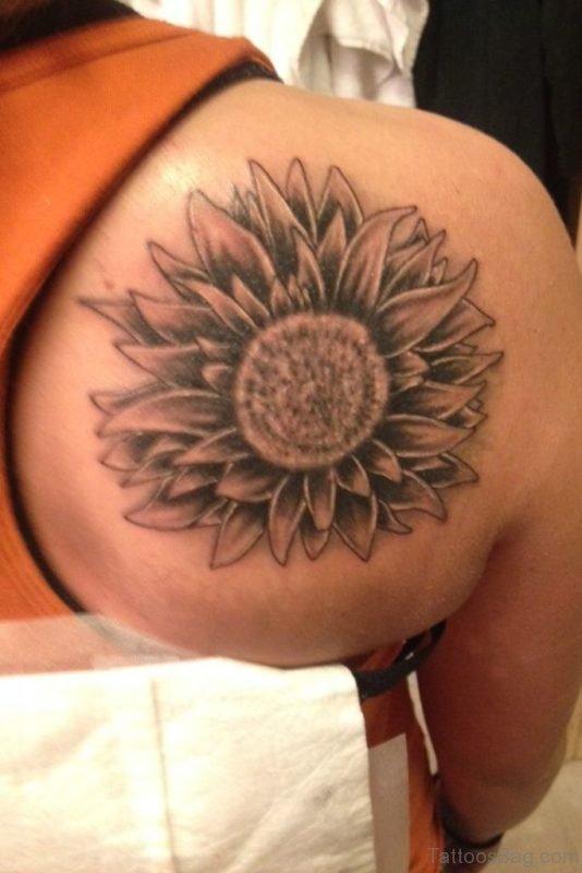 Nice Looking  Sunflower Tattoo