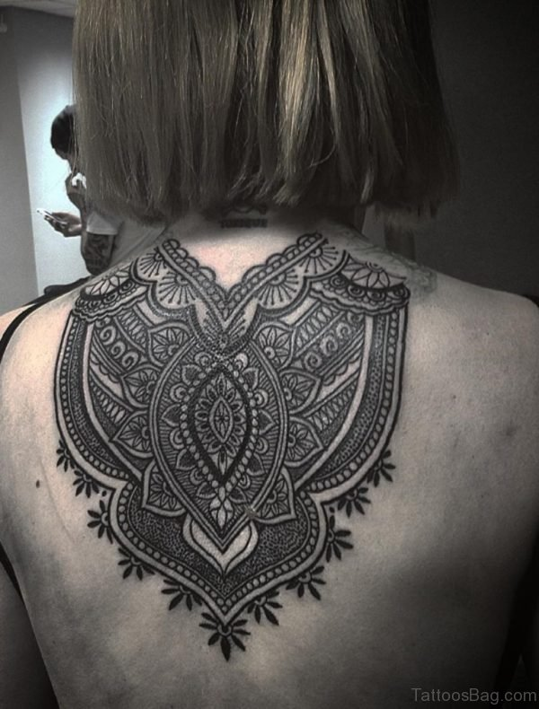 Nice Mandala Tattoo On Back