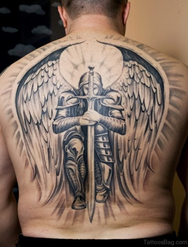 Nice Memorial Angel Tattoo