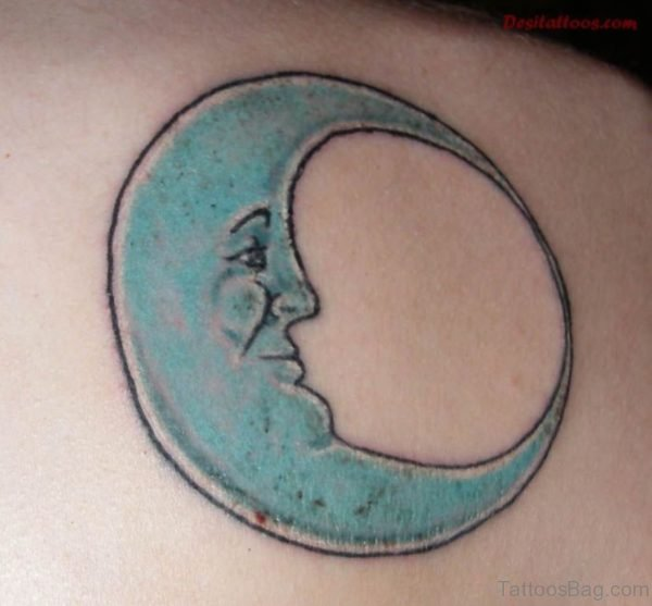Pretty Moon Tattoo On Back
