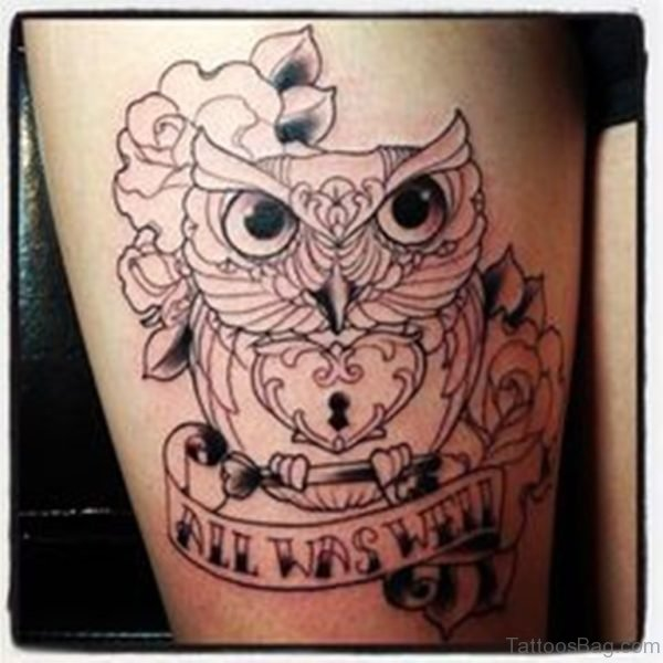 Nice Owl Tattoo