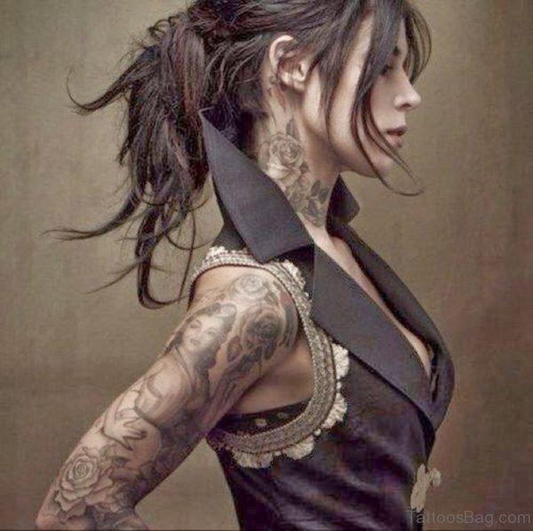 Nice Rose Tattoo Design