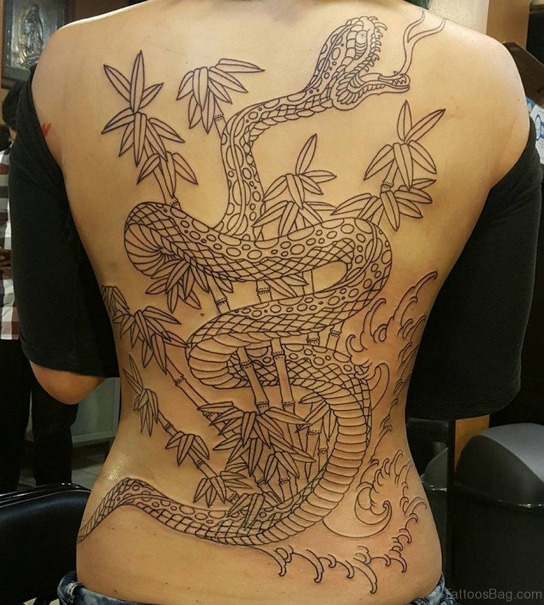 978ff2a15 60 Classy Snake Tattoos For Back