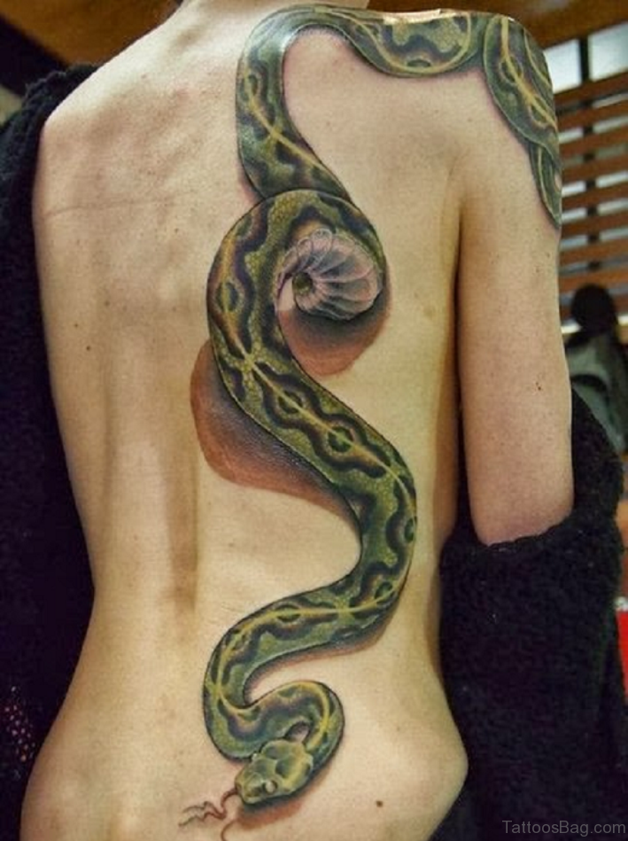 60 classy snake tattoos for back. Black Bedroom Furniture Sets. Home Design Ideas