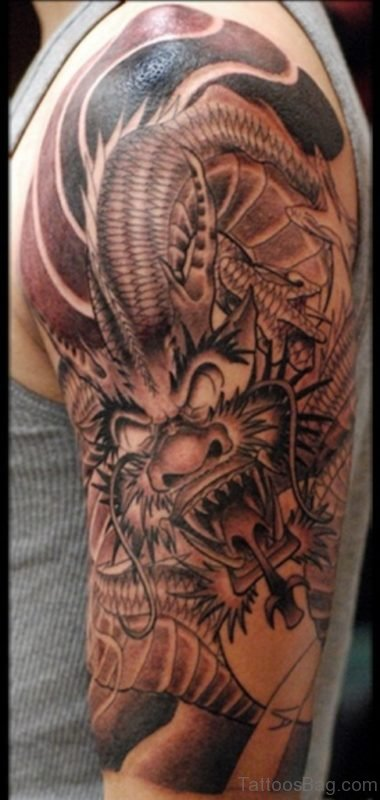 Nice Stunning Dragon Tattoo
