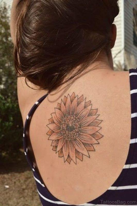 Nice Sunflower Tattoo Design