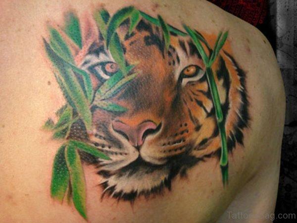Nice Tiger Face Tattoo Design