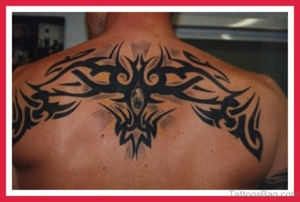 Nice Tribal Tattoo On Back