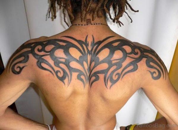 Nice Tribal Tattoo On Back
