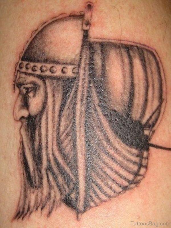 Nice Warrior Face Tattoo