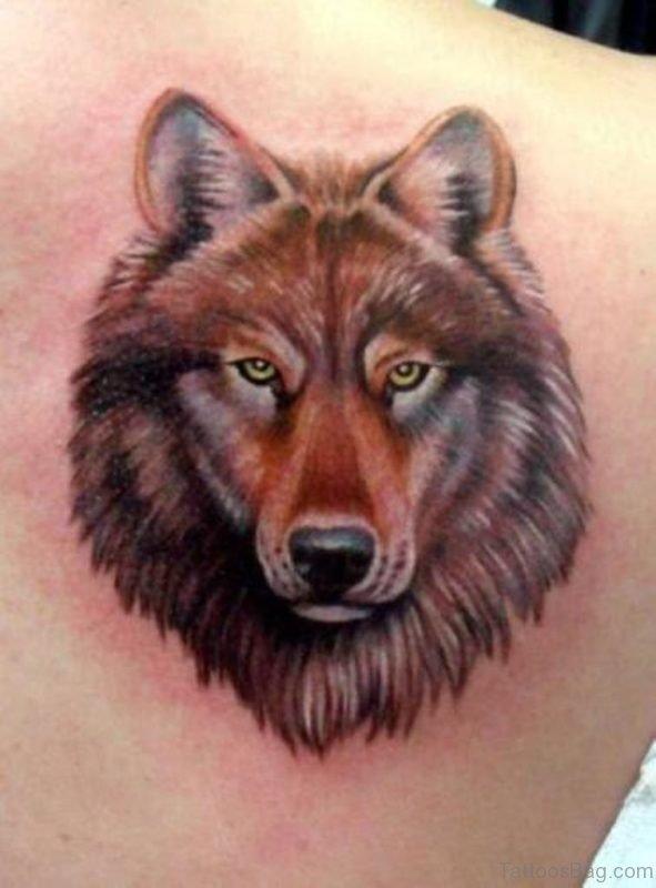 Nice Wolf Face Tattoo