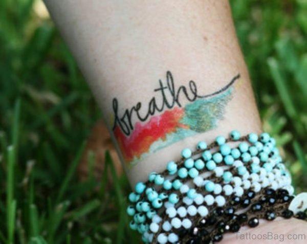 Nice Words Tattoo On Wrist