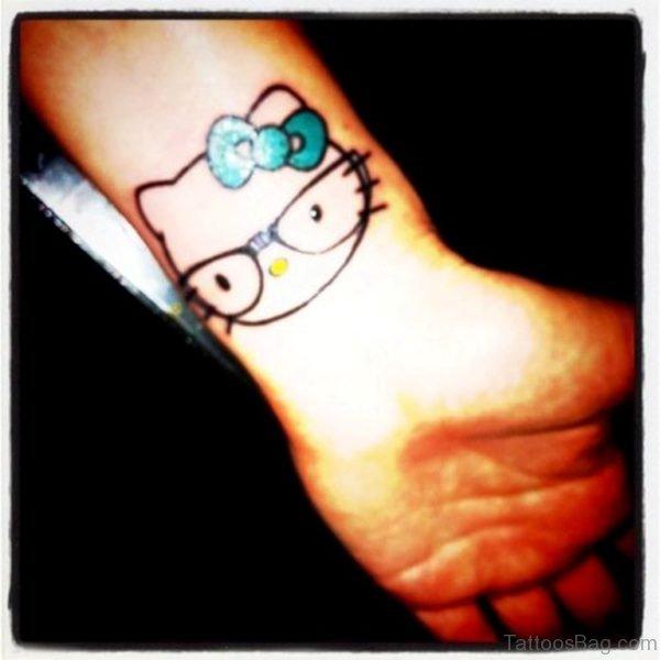 Nice kitty Wrist Tattoo