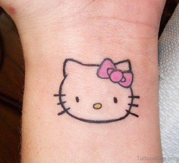 Normal kitty Wrist Tattoo