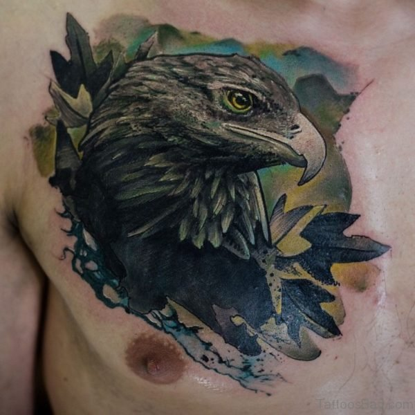 Oak Eagle Tattoo Design