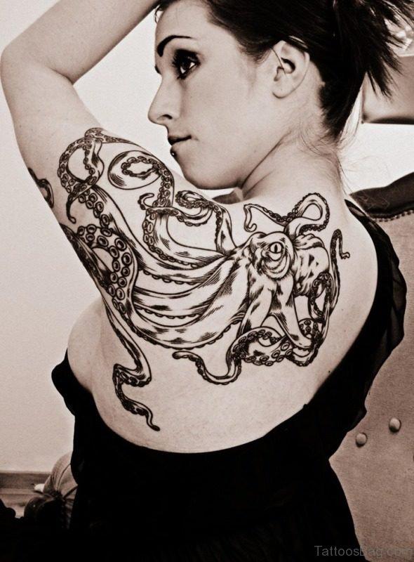 Octopus Shoulder Tattoo