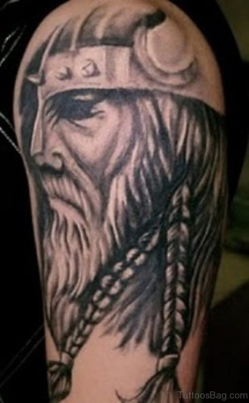 Old Viking Man Tattoo