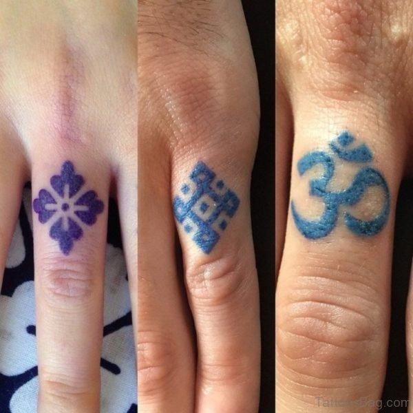 Om Tattoo Design On Finger