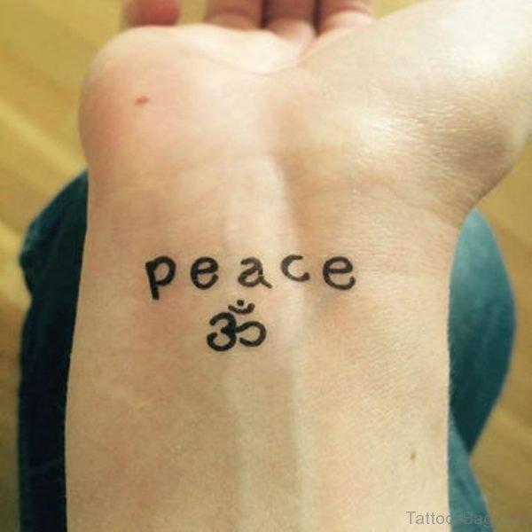 Om Tattoo On Wrist