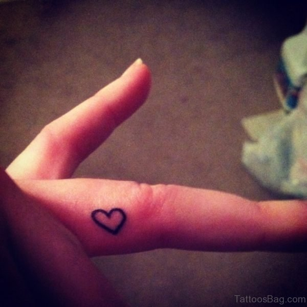 Open Heart Tattoo On Finger