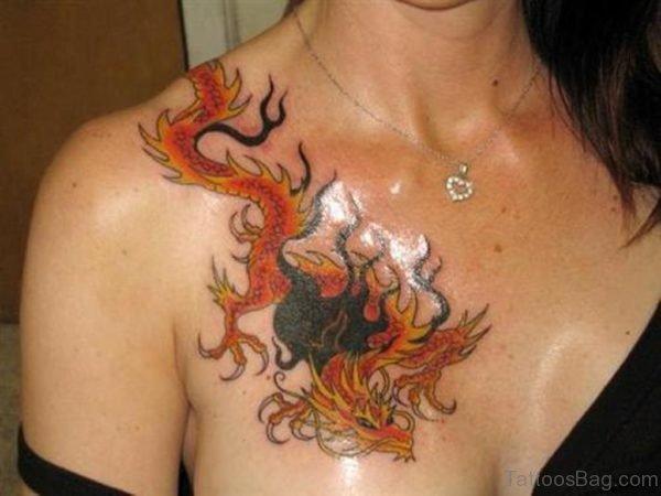 Orange Dragon Tattoo