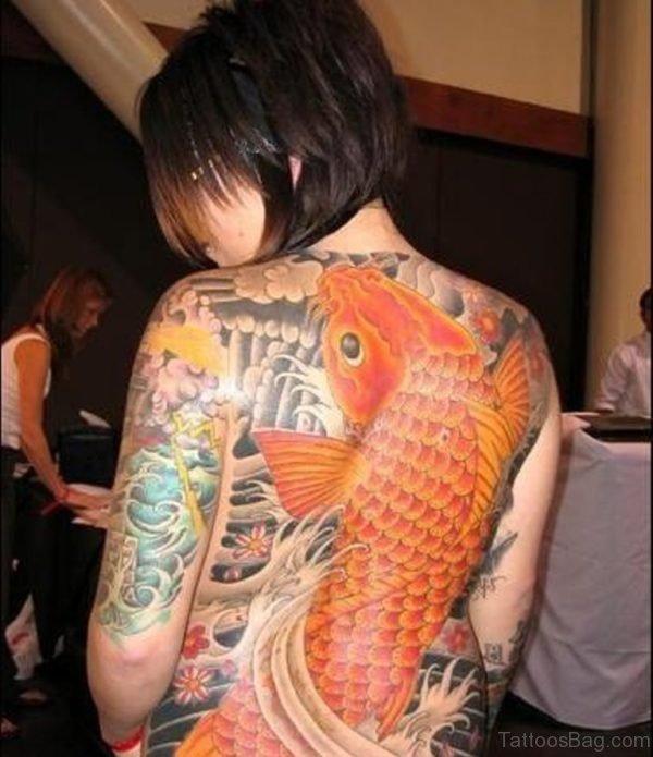 Orange Fish Tattoo