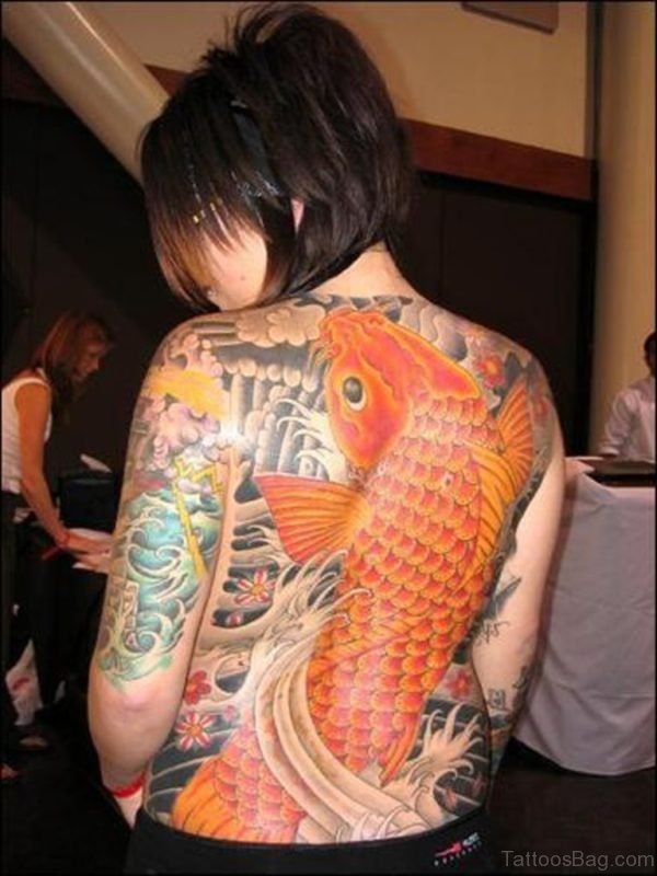 Orange Fish Tattoo